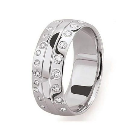 Alliance or blanc diamants originale fantaisie rhone alpes