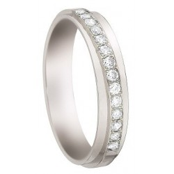 bague  alliance & création diamant  Or 18 Cts or blanc