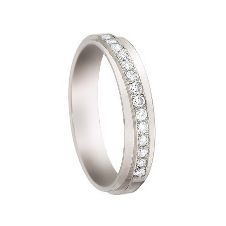 bague  diamant  Or 18 Cts or blanc INSOLITE