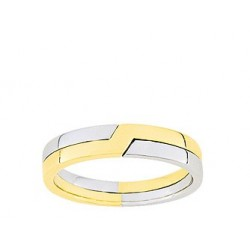 Alliance mariage or blanc & or jaune