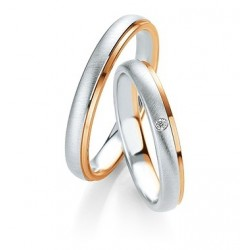 bague homme breuning or rose & blanc duo 585/1000