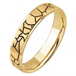 Bague Mariage Or jaune Ponce Or Insolite Alliances