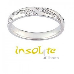 Alliance mariage diamants 9 carats createur Girard Geneve