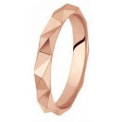 Alliance or rose 18 ct fantaisie facettée