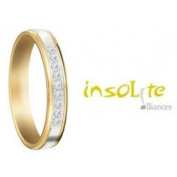 Alliance mariage or et diamant Insolite alliances
