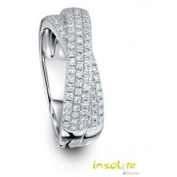 Alliance or 18 carats 750/1000 croisée bague
