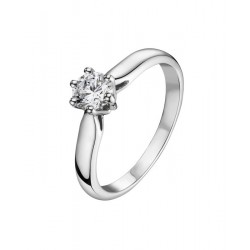 Solitaire platine 6 griffes 0.30 ct