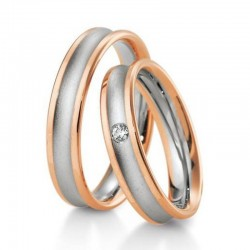 Alliance diamant & or blanc et rose