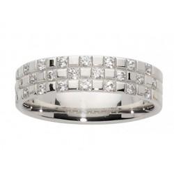 Alliance multi diamants et or blanc