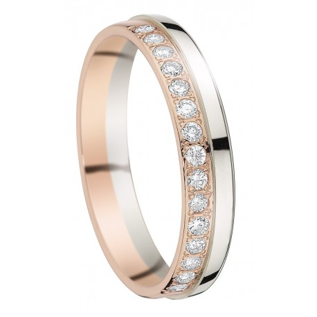 bague or blanc or rose diamant