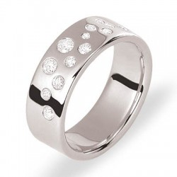 Alliance or blanc et diamants collection prestige