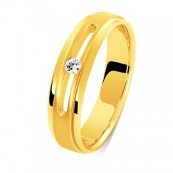 Bague or jaune & diamant